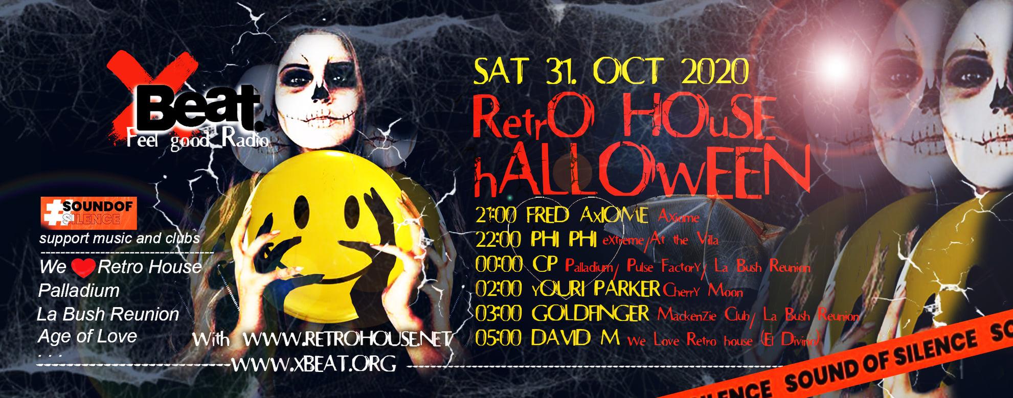 Retro House Halloween 31 Oct 2020